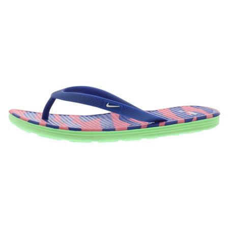12e3bb3d04b4 Nike Solarsoft Thong II Print Sandals Women s Shoes Size - Walmart.com