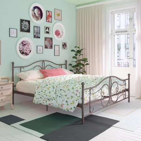 DHP Bombay Metal Bed, King Bed Frame, Bronze