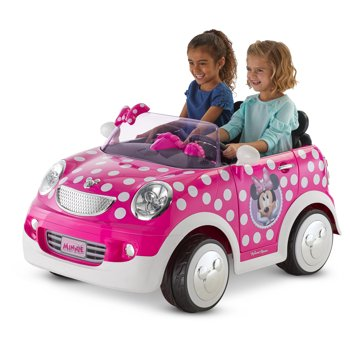 Kid Trax 12 Volt Disney Minnie Mouse Hot Rod Coupe Ride-On Toy