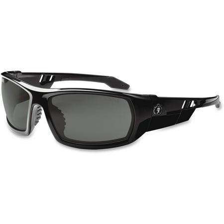 Ergodyne Skullerz Odin Safety Sunglasses- Black Frame, Smoke Lens