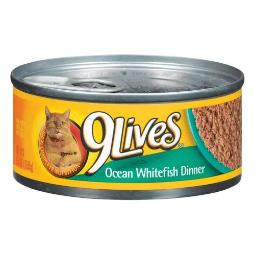 Del Monte Foods - Pet Food 5. 5 Oz Ocean Whitefish Dinner 9Lives Canned Cat Food - Pack of 24