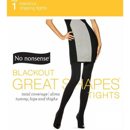 02a894ef773ef No nonsense - Black Out Shaping Tights - Walmart.com
