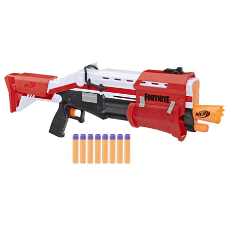 Nerf Fortnite TS Nerf Pump Action Dart Blaster with 8 Nerf Mega (Best Nerf Gun Under 20 Dollars)