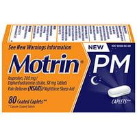 Motrin PM Coated Caplets 200mg (NSAID) 80 Caplets Each