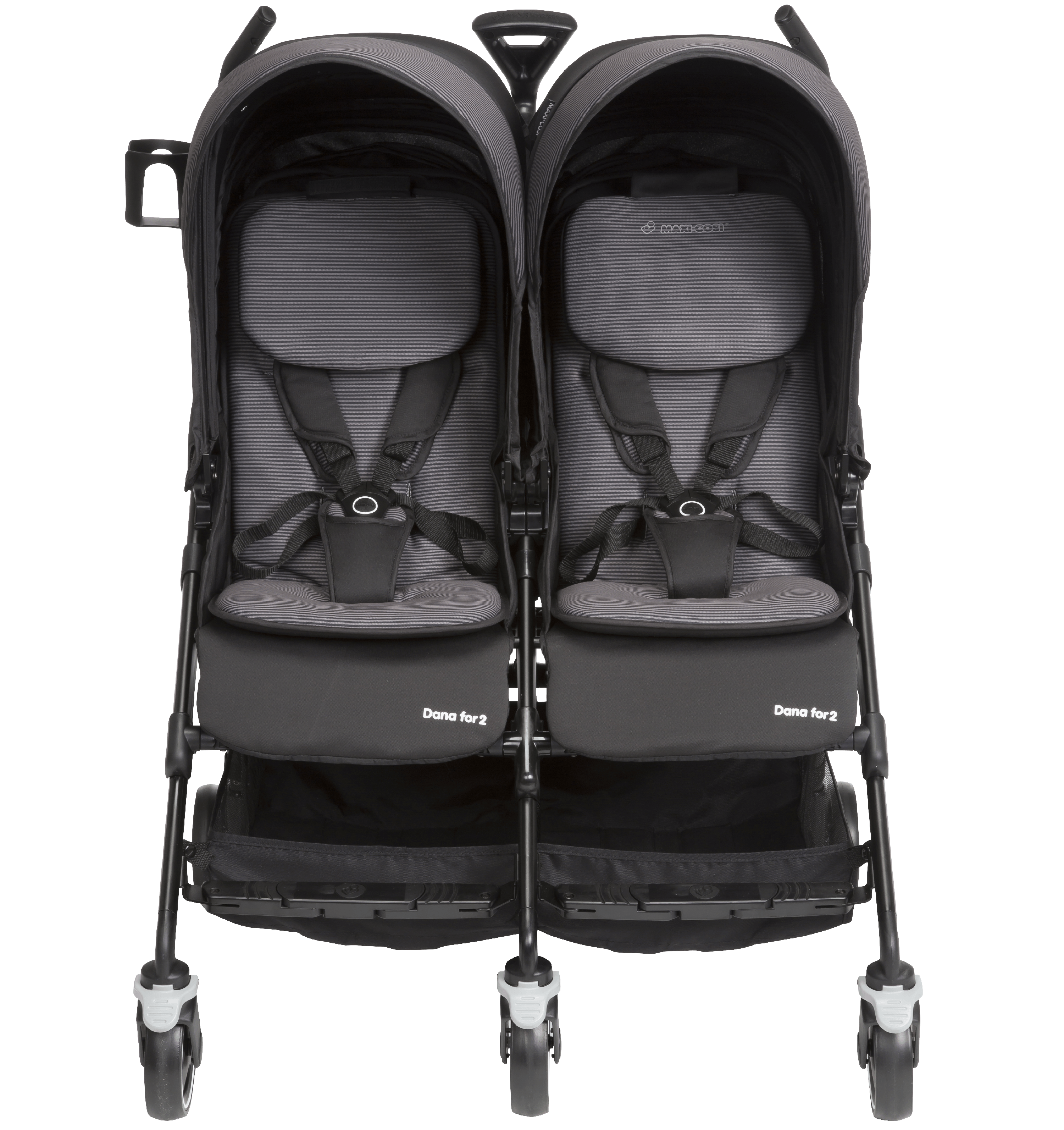 Maxi Cosi Dana For2 Double Stroller, Devoted Black