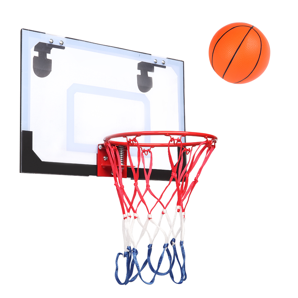 1X Basketball Hoop Net Wall Mounting Back Board Indoor and Outdoor Basketball Ring Wall Board Set Suitable for Adults