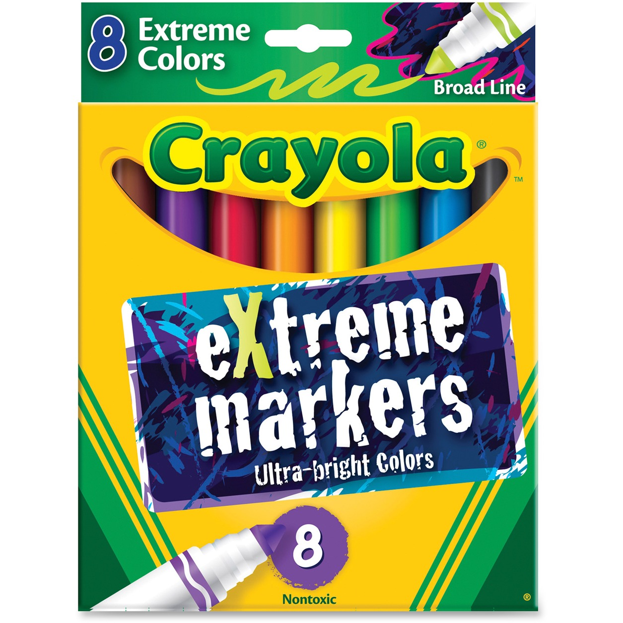 Crayola Extreme Color Marker, Assorted, 8/Pack