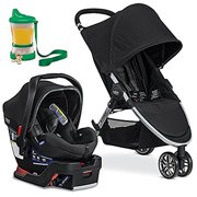 Britax 2017 B-Agile B-Safe 35 Elite Travel System, Domino With Non-Spill Cup and Snack Container(Col