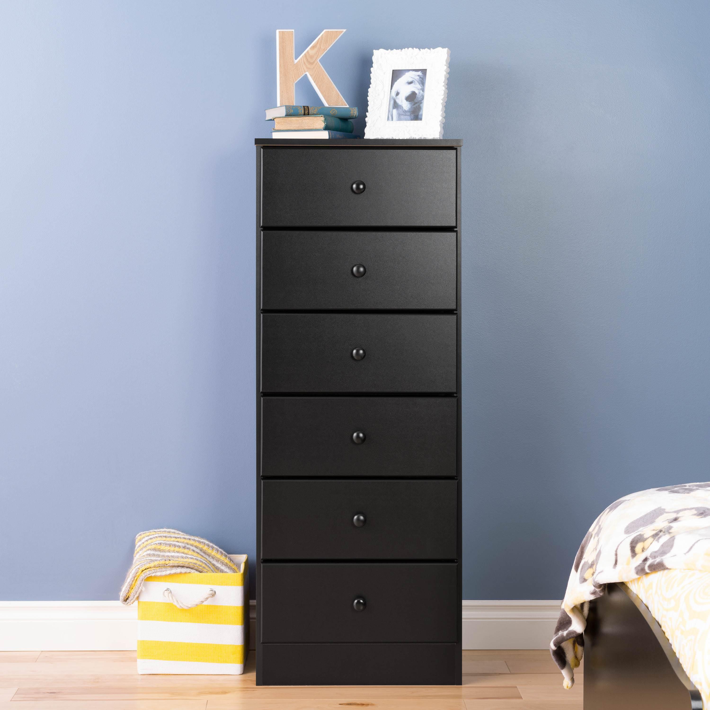 Astrid 6-Drawer Tall Dresser, Multiple Finishes