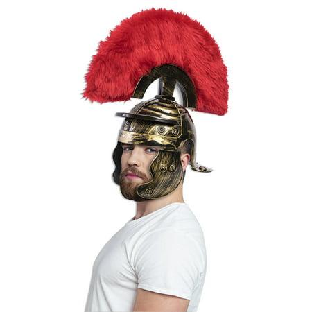 Super Deluxe Roman Costume Helmet Gold Adult Men