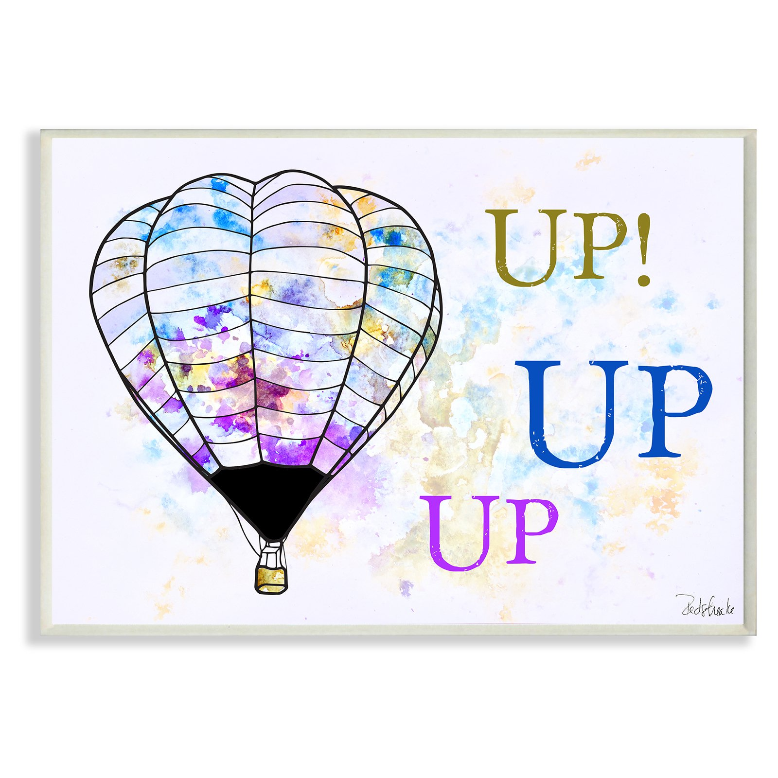The Stupell Home Decor Collection Up Up Up Hot Air Balloons Wall Plaque Art