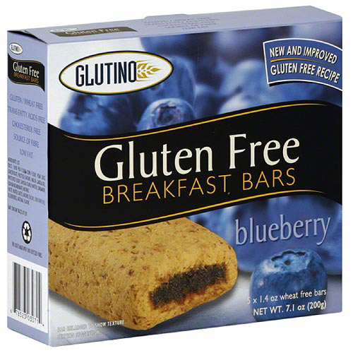 Glutino Gluten Free Blueberry Breakfast Bars, 5 count, (Pack of 12)