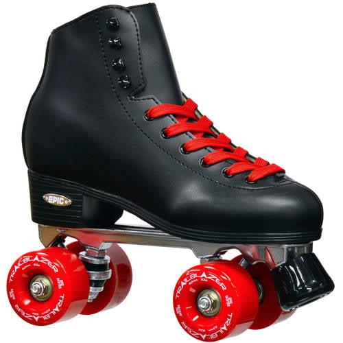 Epic Skates Epic Classic Black and Red Quad Roller Skates