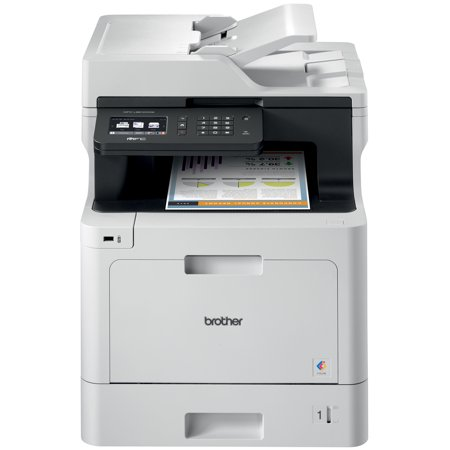 Brother Business Color Laser Multifunction All-in-One Printer, MFC-L8610CDW, Wireless Networking, Automatic Duplex Printing, Mobile Printing and Scanning
