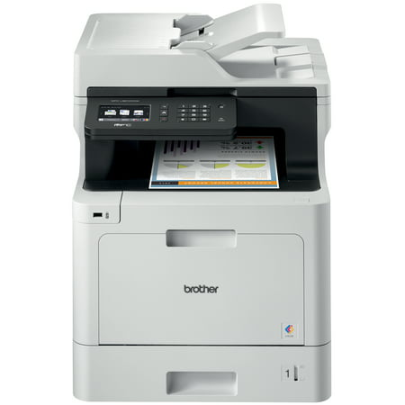 Brother Business Color Laser Multifunction All-in-One Printer, MFC-L8610CDW, Wireless Networking, Automatic Duplex Printing, Mobile Printing and