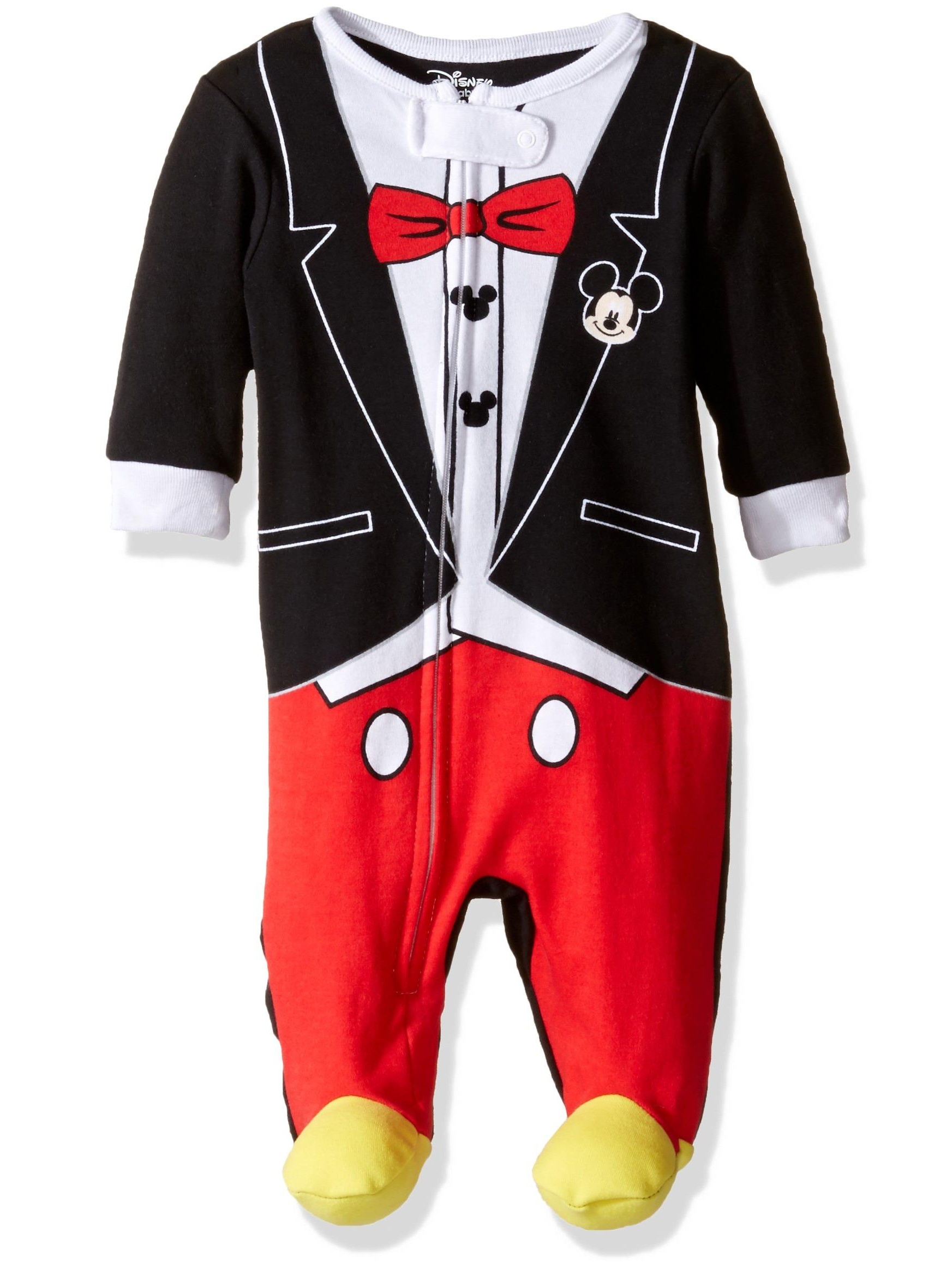 Disney Boys' Mickey Mouse 1pc Sleeper, Red, Size: 6-9