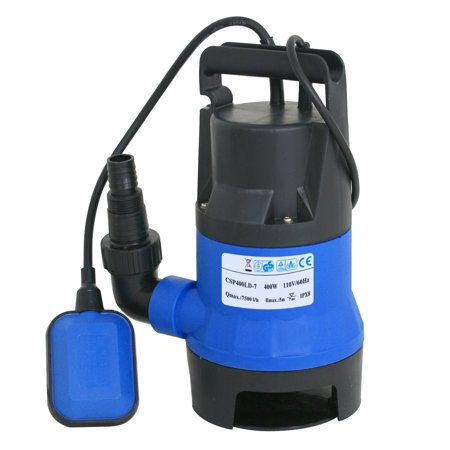 - Zeny 1/2HP Submersible Clean/Dirty Water Pump 2000GPH Swimming Pool Pond Flood Drain w/ Float Switch and Cable