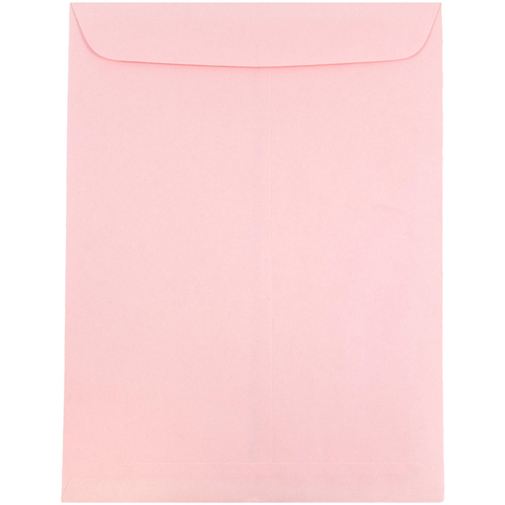 JAM Paper 10 x 13 Open End Catalog Envelopes with Gum Closure, Baby Pink, 100/pack