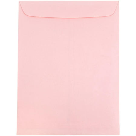JAM Paper 10 x 13 Open End Catalog Envelopes with Gum Closure, Baby Pink, 100/pack - Baby Mail Catalog