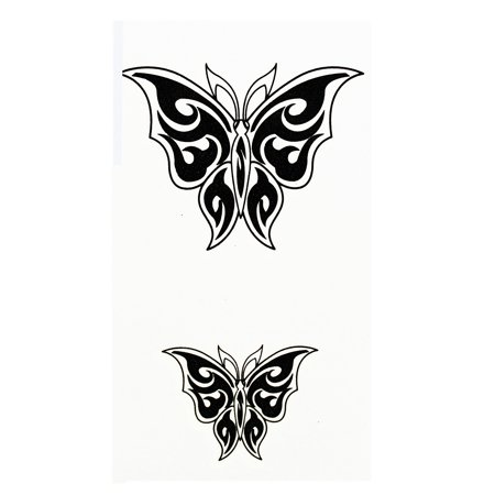 Breathtaking Butterfly Pair Temporary Tribal Tattoos - Snake Tattoo Tribal