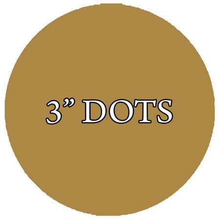 VWAQ 20 Polka Dot Wall Decals 3 Inch Peel & Stick Circles Dots Colors Kids Room VWAQ-555 (Gold) ()