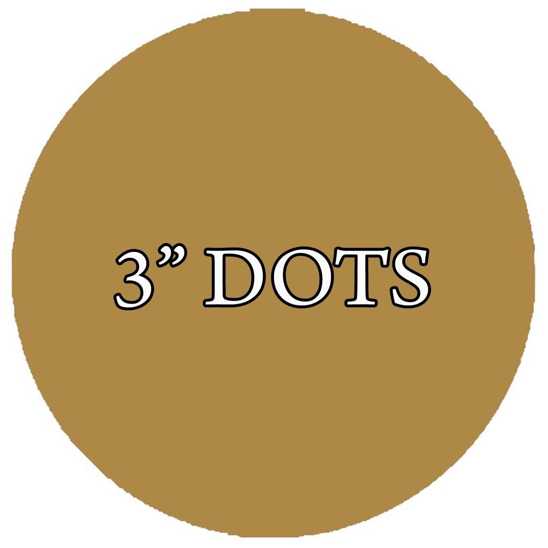 VWAQ 20 Polka Dot Wall Decals 3 Inch Peel & Stick Circles Dots Colors Kids Room VWAQ-555 (Gold)