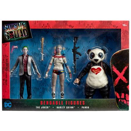 Suicide Squad Box Set (Joker, Harley Quinn, Panda)