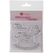 """Woodware Clear Stamps 3.5""""X3.5""""-Rocking Horse"""
