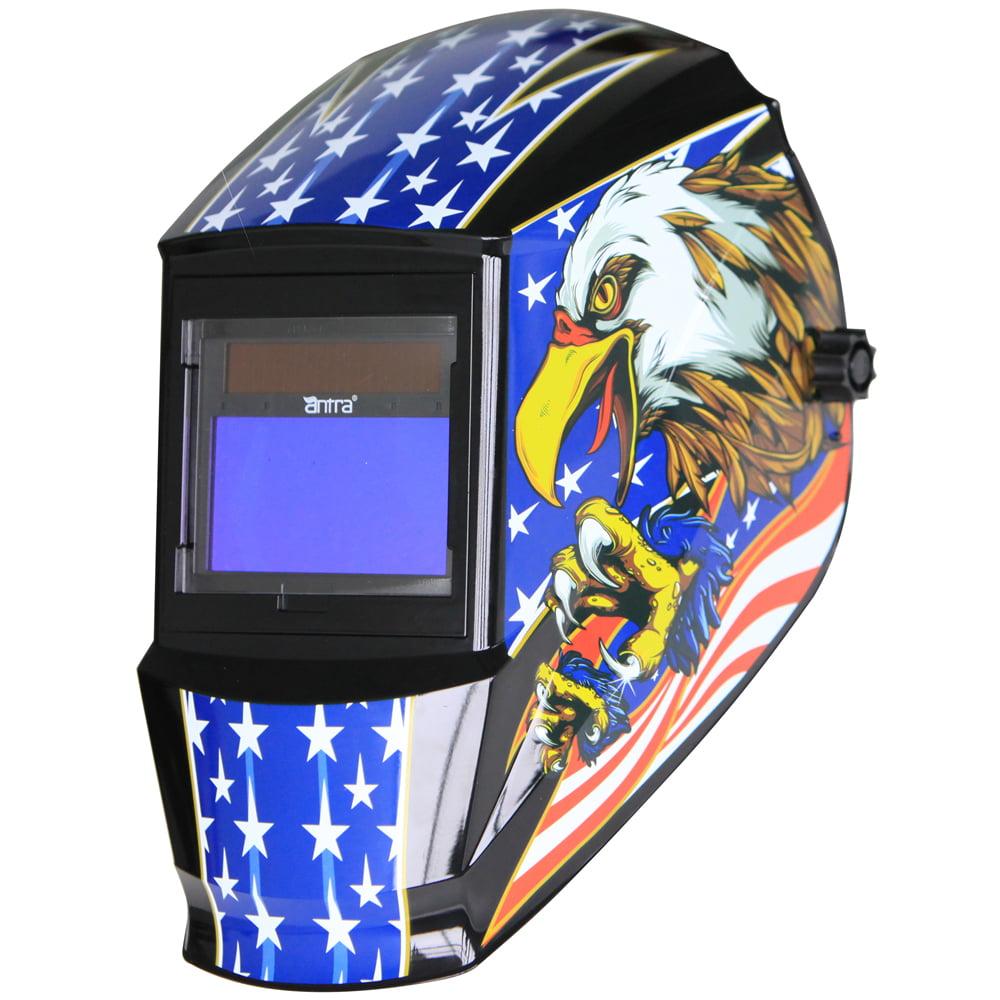 Antra™ Solar Power Auto Darkening Welding Helmet with AntFi X60-3 Shade 4/5-9/9-13 for TIG MIG MMA Plasma, Eagle