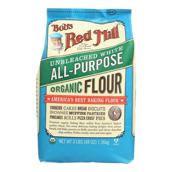Bob's Red Mill Organic Unbleached White All-purpose Flour - 48 Oz - pack of 4