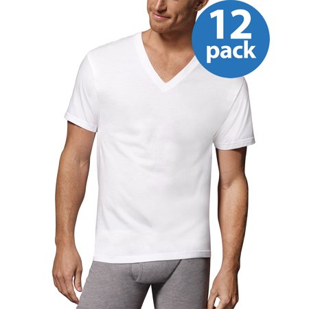 5a88db8958 Men's ComfortSoft White Tagless 12 Extreme Value Pack V-Neck Shirt