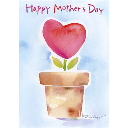 - Recycled Paper Greetings Heart Shaped Flower Mother's Day Card