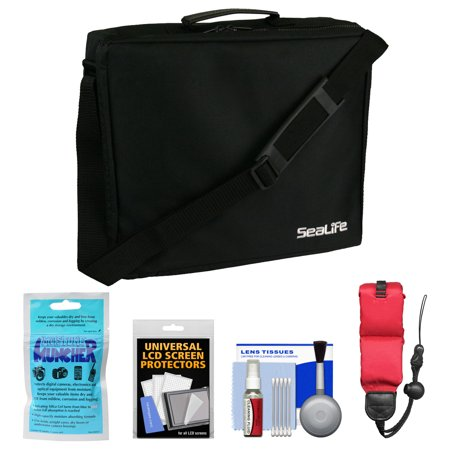 Essentials Bundle for SeaLife DC1400, Micro HD 16GB & HD+ 32GB Underwater Digital Camera with Travel Case + Silica Gel + Floating Strap + Accessory Kit