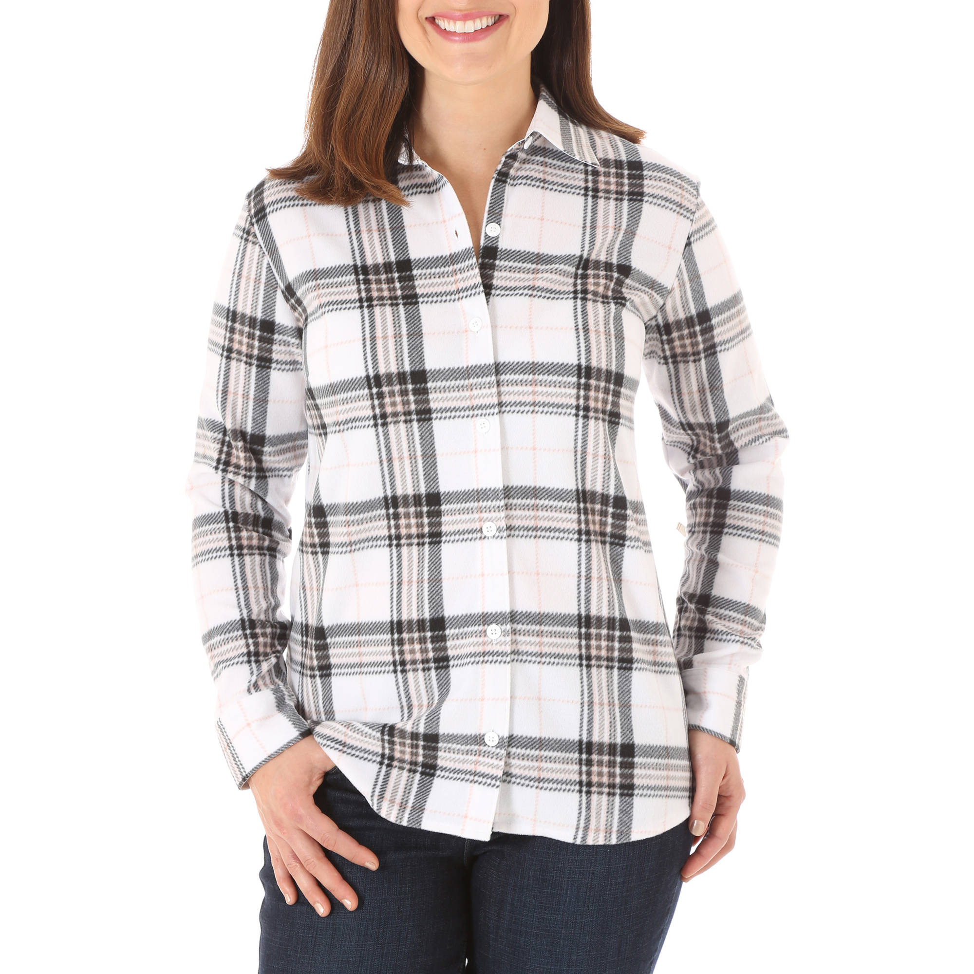 Riders by Lee Women's Long Sleeve Fleece Button Up