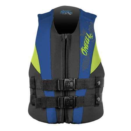 O'NEILL YOUTH REACTOR USCG LIFE VEST, Black/Pacific/Dayglo