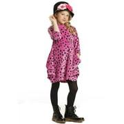 Little Girls Carnation Pink Velour Zina Designer Fall Dress 3