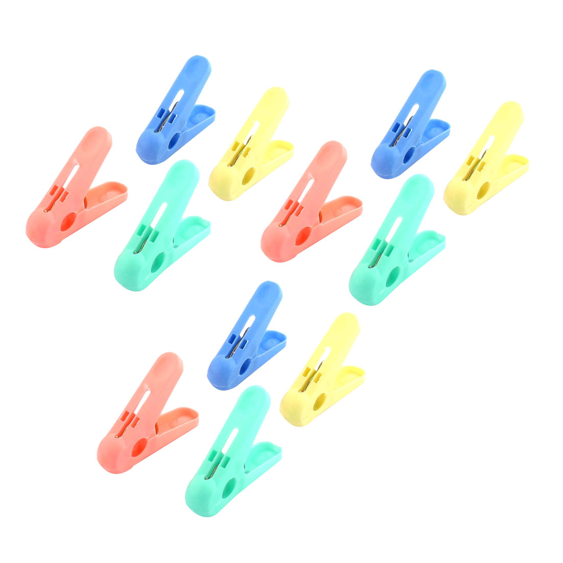 Household Laundry Plastic Hanging Socks Clothes Pins Clothespins Clip Pegs 12pcs