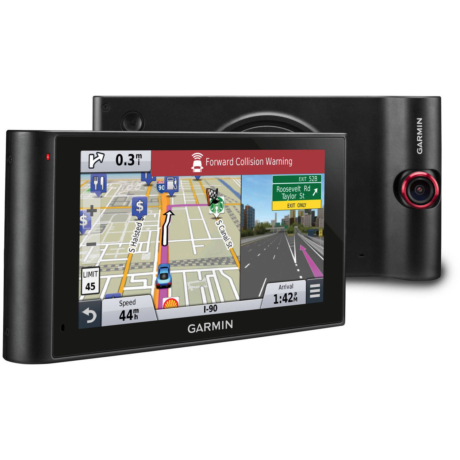 Garmin nuviCamLMT HD, Premium 6 inch GPS with Built-in Dash Cam, Free Lifetime Map Updates and HD Digital Traffic (North America Map)