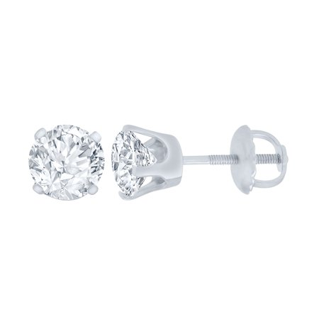 2/5 ct Diamond Stud Earrings (I3 Clarity, IJ color) 10kt White Gold.