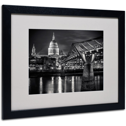 """Trademark Fine Art """"Letters From London"""" by Giuseppe Torre, Black Frame"""