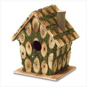 SWM 37921 7 1/2'' L x 5 3/8'' W x 8'' H Moss Edged Bird House - Wood