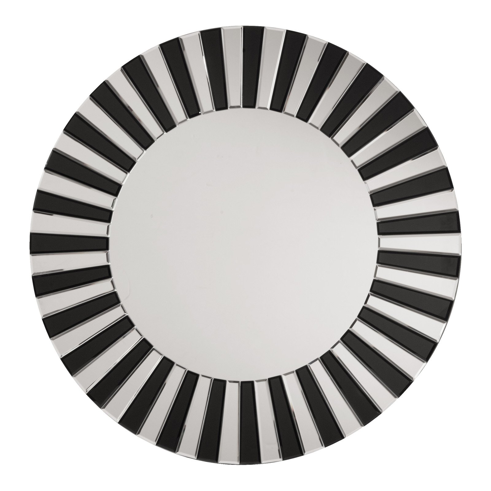 Jazz Note Round Wall Mirror with Black Glass