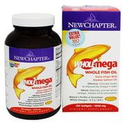 New Chapter - Wholemega Omega Extra Virgin Wild Alaskan Salmon Whole Fish Oil 1000 mg. - 180 Softgels