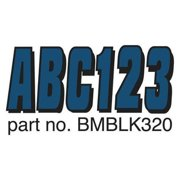 HARDLINE PRODUCTS GBMBLK320 Number and Letter Combo Kit,3 in. H