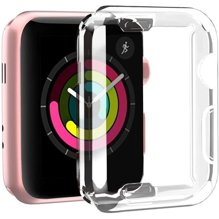 Apple Watch Screen Protector Case, Screen Protector Case All-Around Protective Case High Definition Clear Ultra-Thin Cover Watch Compatible with Iwatch Series 3/2/1(42mm Transparent) - image 9 of 10