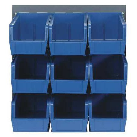 Sided Louvered Rack (QUANTUM STORAGE SYSTEMS QLP-1819-230-9BL Louvered Bench Rack, 18 x 11 x 19 In, )