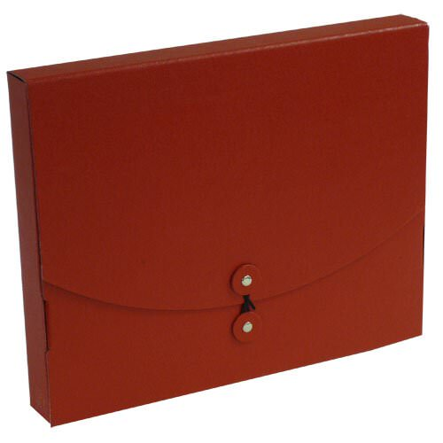 Medium Wide Red Kraft Euro Board Button & String Portfolios (9 1/2 x 12 x 1 1/2) - Sold individually