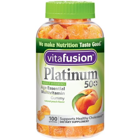 Vitafusion Platinum 50+ multivitamines Gummy, Peach 100 ch (pack de 2)