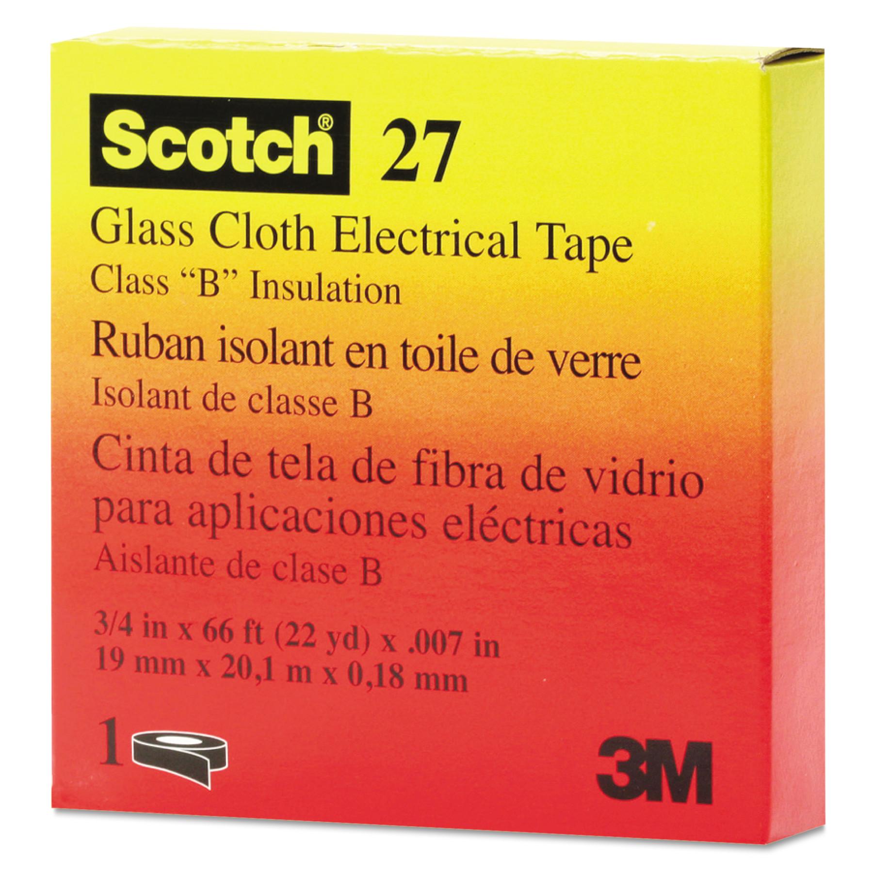 "3M Scotch 27 Glass Cloth Electrical Tape, 3/4"" x 66ft"