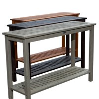 DTY Outdoor Living Longs Peak Eucalyptus Console Table, Outdoor Living Patio Furniture Collection - Driftwood Gray